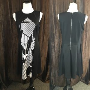 Black/White Casual Dress
